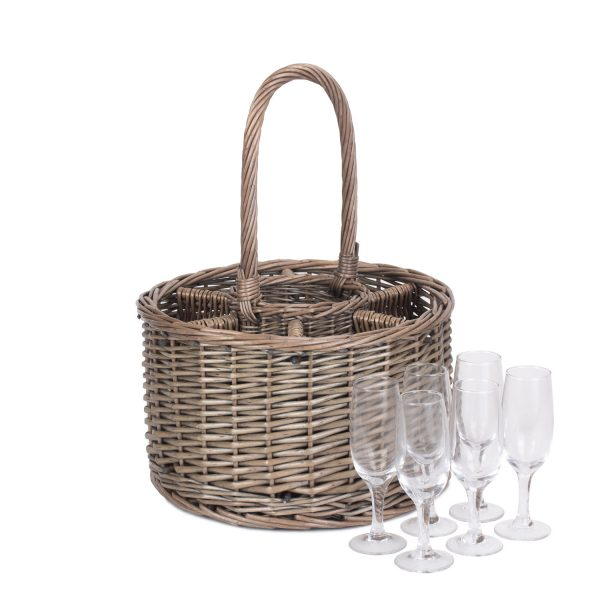 Special Event Basket including 6 x Champagne Glasses 1